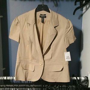 Womens Plus Size Short Sleeve Blazer